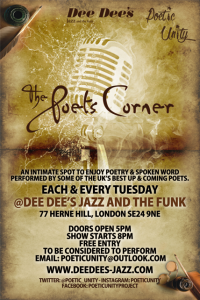 The Poets Corner (Every Tuesday at Dee Dee's) @ Dee Dee's Jazz and the Funk | London | United Kingdom