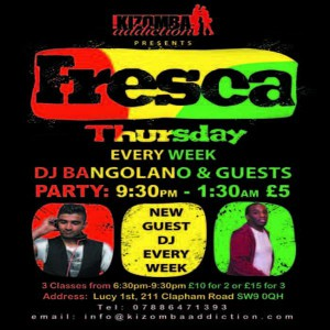 Kizomba Dance Classes & Party - Fresca Thursdays with DJ Bangolano 5th Nov @ Lucy 1st | London | United Kingdom
