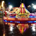 A soaking wet start for the Children's Christmas Funfair in Windrush Square, Brixton