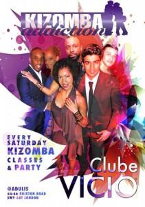 Clube Vicio - Kizomba Party & Dance Classes - 6th February 2016 @ Adulis | London | United Kingdom