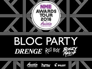 Bloc Party, Drenge, Rat Boy and Bugzy Malone – The NME Awards Tour 2016 with Austin Texas @ 02 Academy Brixton | London | United Kingdom