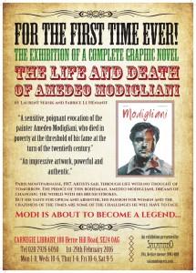 Modigliani, the graphic novel exhibition @ Carnegie Library | London | United Kingdom