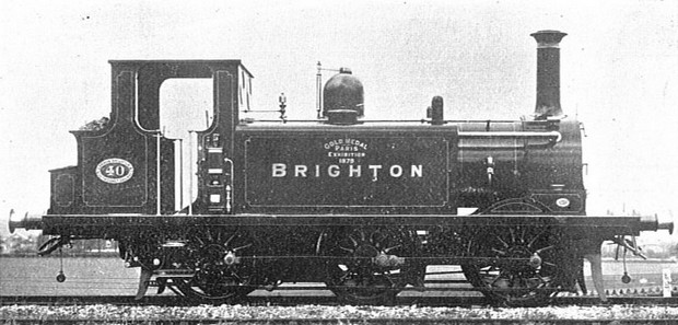 A charming little Victorian steam locomotive called Brixton