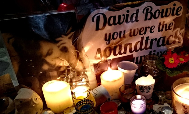 'Our Beautiful Brixton Boy Did Us Proud' - Brixton Bowie shrine grows and grows