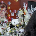 David Bowie shrine in Brixton - two weeks later and the crowds keep coming - photos