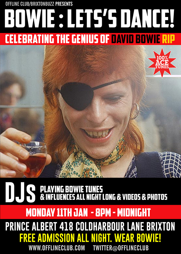 LET'S DANCE! Celebrate the genius of DAVID BOWIE tonight