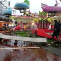 Wet scenes in Windrush Square - Brixton's Christmas Fair leaves town for another year