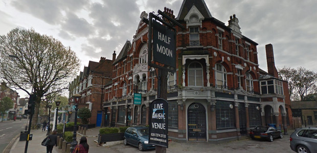 Fullers make it clear: NO live music at the Half Moon, Herne Hill
