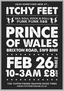 Itchy Feet London! @ The Prince of Wales    London   United Kingdom