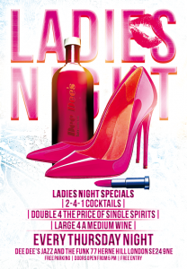Ladies Night At Dee Dee's (Every Thursday) @ Dee Dee's Jazz and the Funk | United Kingdom