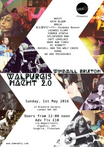Damnably Presents: Walpurgis Nacht Festival @ Windmill Brixton | Wallington | United Kingdom
