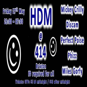 ★★★ HDM @ 414 ★★★ @ Club 414 | Sherborne | United Kingdom