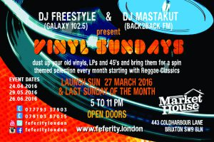Vinyl Sundays @ Market House | London | United Kingdom