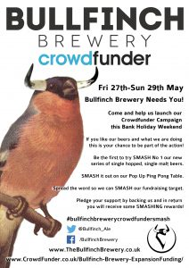 Bullfinch Brewery Crowdfunder Launch @ Bullfinch Brewery | London | United Kingdom