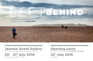 LEFT BEHIND Photography exhibition // OPENING PARTY 22/07/2016 From 6pm @ Jeannie Avent Gallery | London | United Kingdom