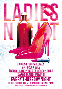 Ladies Night (Every Thursday) @ Dee Dee's On The Hill | London | United Kingdom