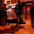 Buskers of Brixton - four piece band take a late night slot on Brixton Road