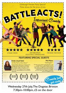 BattleActs! Improvised Comedy @ Dogstar | London | England | United Kingdom