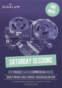 Saturday Sessions at Gigalum @ Gigalum | London | England | United Kingdom