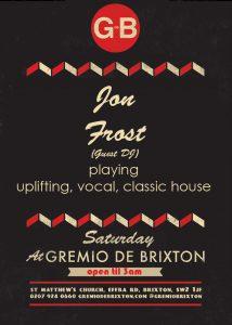 SATURDAYS @ GREMIO @ Gremio De Brixton