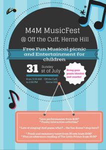 M4M MusicFest for big and small children @ Off The Cuff @ Off The Cuff   London   England   United Kingdom
