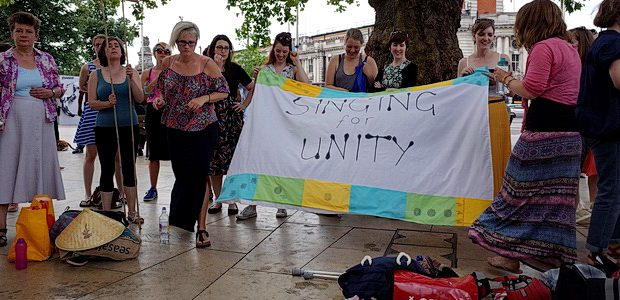 A gathering of singers assembled in Brixton's Windrush Square this afternoon to collectively belt out tunes of unity in response to the growing tide of hate crimes. The event was […]