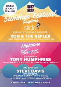 Up On The Roof...Summer Festival with Tony Humphries and more @ Prince Of Wales | London | United Kingdom
