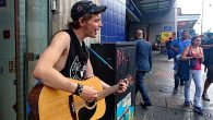Seen singing and strumming away outside WH Smoth by Brixton tube station, wasfolk/punk singer/songwriter, Ben Marvin.