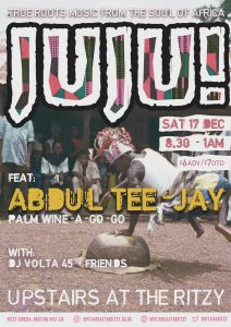 JUJU: Afro-Palace Party Feat Racubah @ Upstairs at The Ritzy | London | United Kingdom