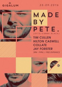 Sunday Sessions w/ Made By Pete / Tim Cullen / Hilton Caswell @ Gigalum | London | England | United Kingdom