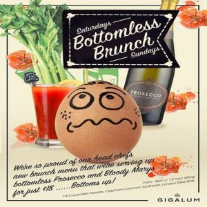 Bottomless Brunch New at Gigalum - Every weekend @ Gigalum | London | England | United Kingdom