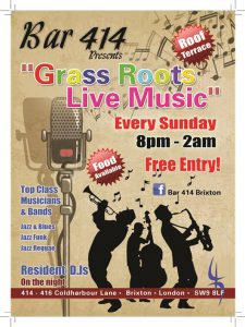 Grass Roots Live Music Sundays @ Club/Bar 414 | London | England | United Kingdom