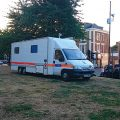 Police park their truck onto the park outside the Barrier Block without consultation - residents not pleased