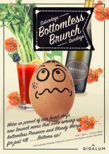 Bottomless Brunch New at Gigalum - Every weekend @ Gigalum | London | England | United Kingdom