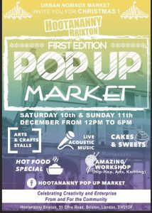 Urban Nomads Present: Hootananny POP UP Market @ Hootananny Brixton | London | England | United Kingdom