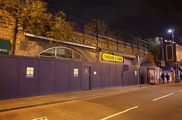 Construction work starts on the year-long refurbishment of the Brixton arches