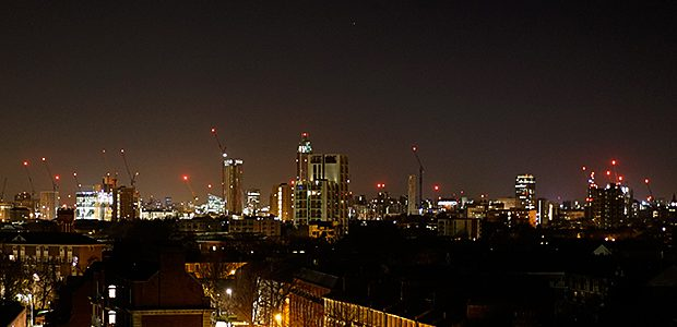 Twinkling high in the cold December night air over central London can be seen a host of bright redlights, attached to tall cranes as a warning to passing aircraft. Here's […]