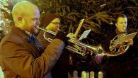 A brass band entertained Brixton crowdslast night by the Christmas tree outside Morleys department store. We were passing by and grabbed these pics: