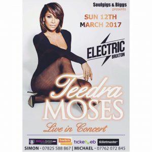 Soulgigs & Biggs Presents Teedra Moses LIVE @ Electric Brixton | England | United Kingdom
