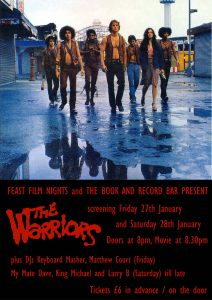 FEAST Film Nights present The Warriors + DJs @ The Book and Record Bar   England   United Kingdom