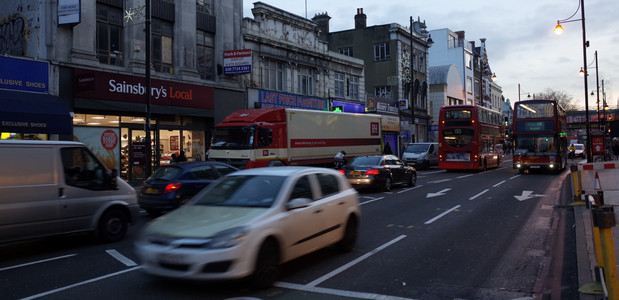 Dirty old town: Brixton Road breaks a year's air pollution limits in just five days