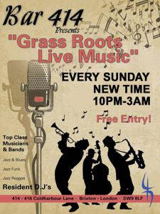 Grass Roots Live Music Sundays @ Bar 414 | England | United Kingdom
