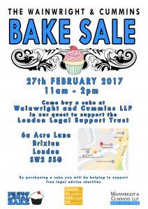 Wainwright & Cummins - Bake Sale @ Wainwright & Cummins LLP | England | United Kingdom