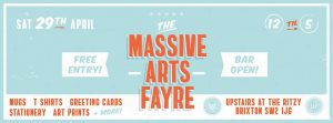 Massive Arts Fair - Brixton Ritzy - April @ Upstairs at the ritzy | England | United Kingdom