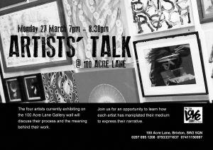 Artists in Conversation @100AcreLane @ The Front Room  | England | United Kingdom
