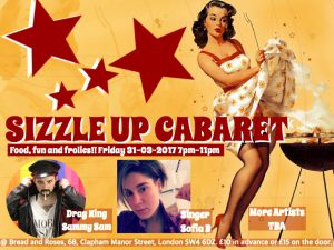 Sizzleup Cabaret @ The Bread and Roses Pub | England | United Kingdom