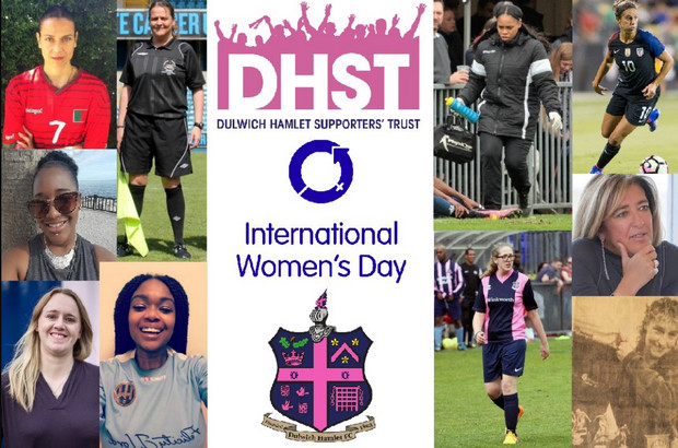 Dulwich Hamlet celebrate International Women's Day this Saturday, with special kit and charity auction
