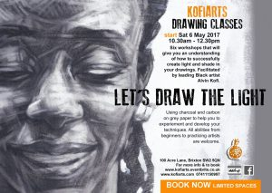 Kofi Arts Drawing Classes - Let's draw the Light @ The Front Room | England | United Kingdom