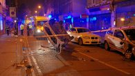Late last night, a car dramatically flipped over in Coldharbour Lane, Brixton, narrowly missing crowds gathered outside the Dogstar venue.