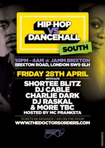 Hip-Hop vs Dancehall – South @ Brixton Jamm | England | United Kingdom